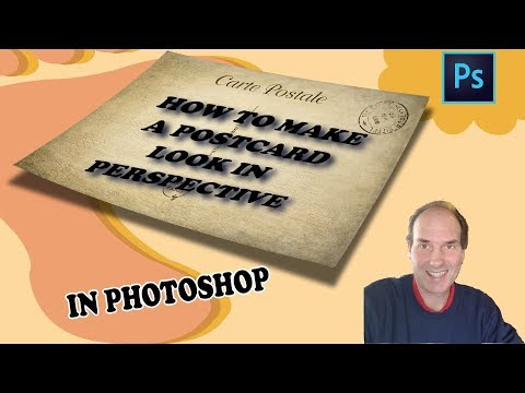 How To Make A Postcard Look In Perspective Using Photoshop | Photoshop Tutorial thumbnail