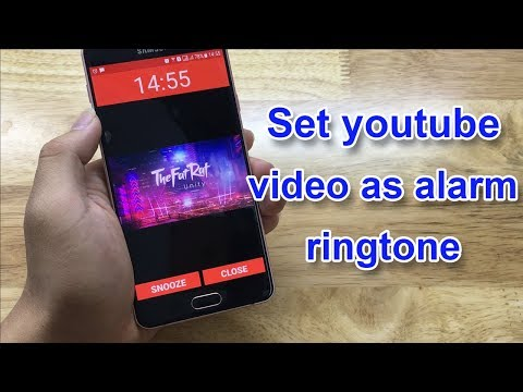 Set youtube video as alarm ringtone