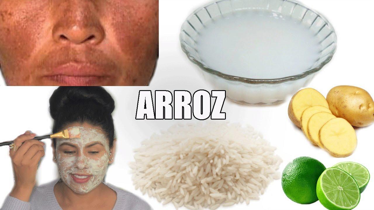 Harina de arroz para las manchas dela cara