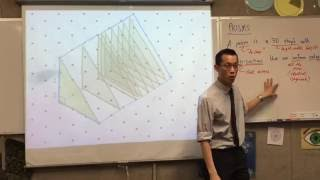 Prisms (3 of 3: Using a sheet of isometric dot paper to build a prism from the definition)