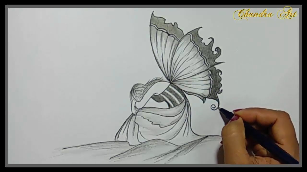 Cool Easy Drawings - Pencil Drawing a Beautiful Sad ...