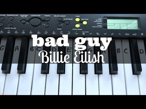 Bad Guy - Billie Eilish | Easy Keyboard Tutorial With Notes