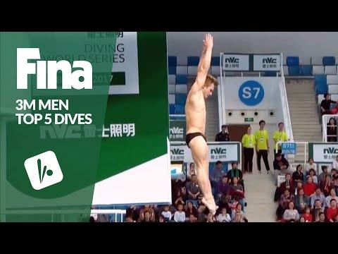 Top 5 Dives Men's 3m Final | FINA/NVC Diving World Series - Beijing 2017
