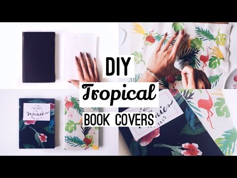 DIY Fabric Book Covers · With Free Stencil Templates · SemiSkimmedMin