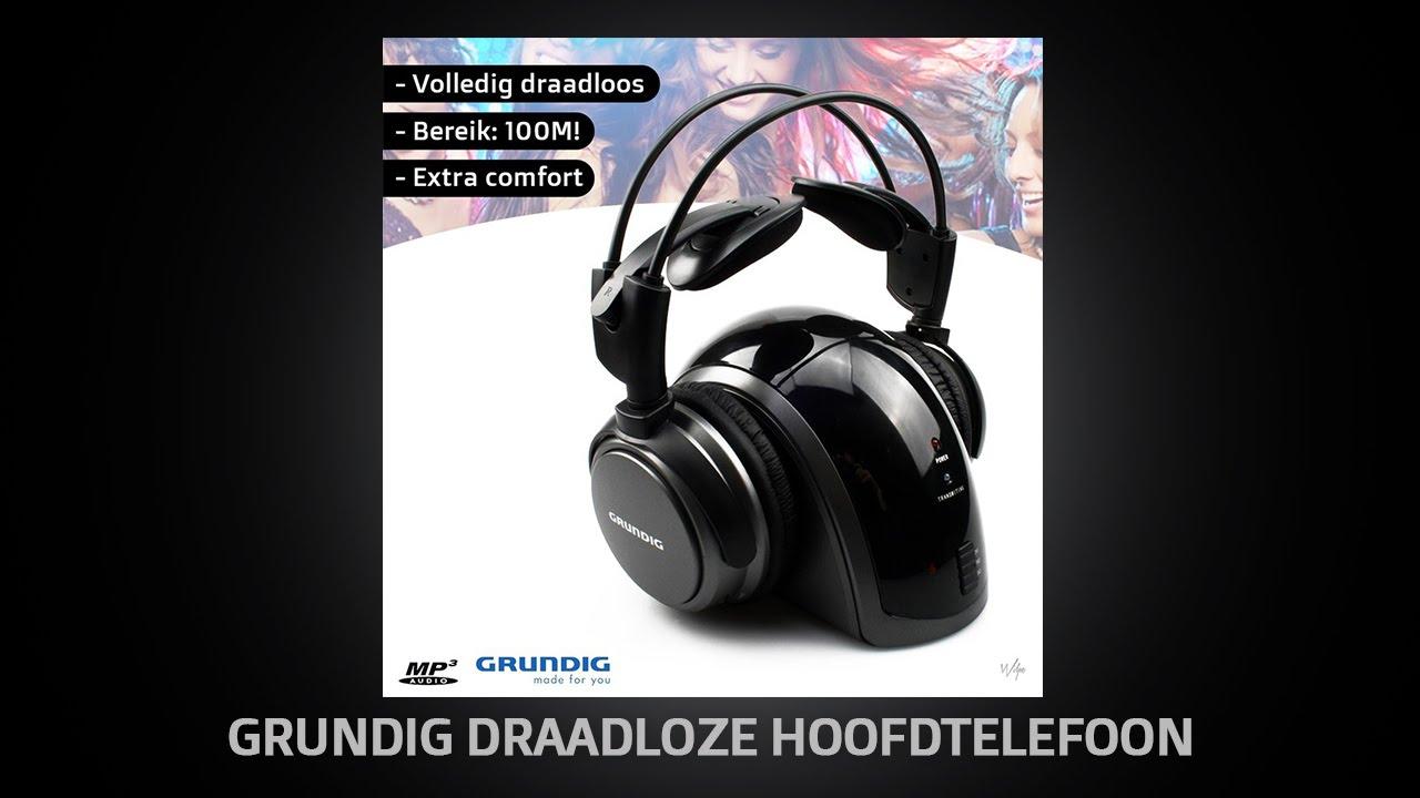 Draadloze Koptelefoon Grundig.Wilpe Grundig Draadloze Hoofdtelefoon