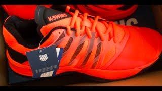 K Swiss Ultra Shot Tennis Shoe Review/Unboxing Neon Blaze/Black 10.5