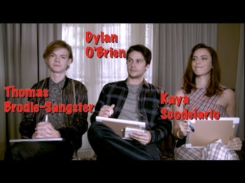 Maze Runner: The Death Cure Cast Interview: Dylan O'Brien, Kaya Scodelario, Thomas Brodie-Sangster