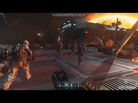 Call of Duty Infinite Warfare - Asteroid Crashing into the Sun gameplay
