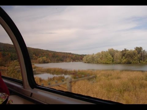 Amtrak's Adirondack: Albany To Montreal From Dome Ocean View 14 October 2010