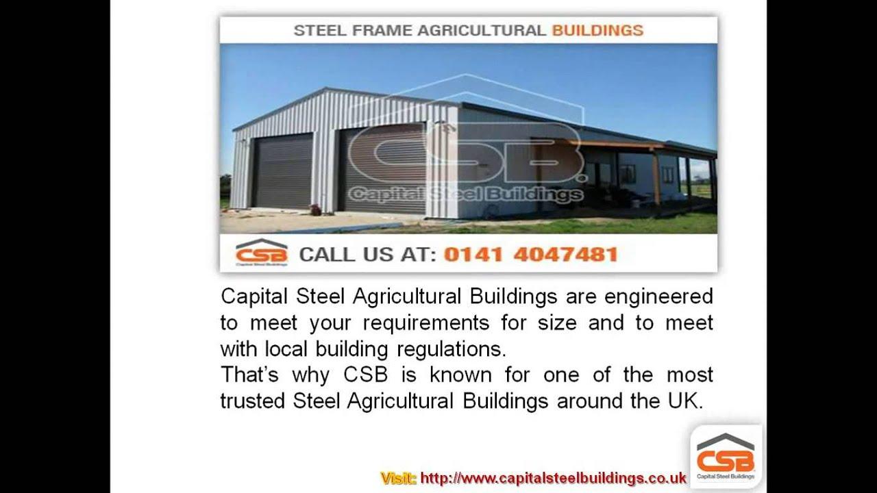 Steel Frame Agricultural Buildings   Capital Steel Buildings - YouTube