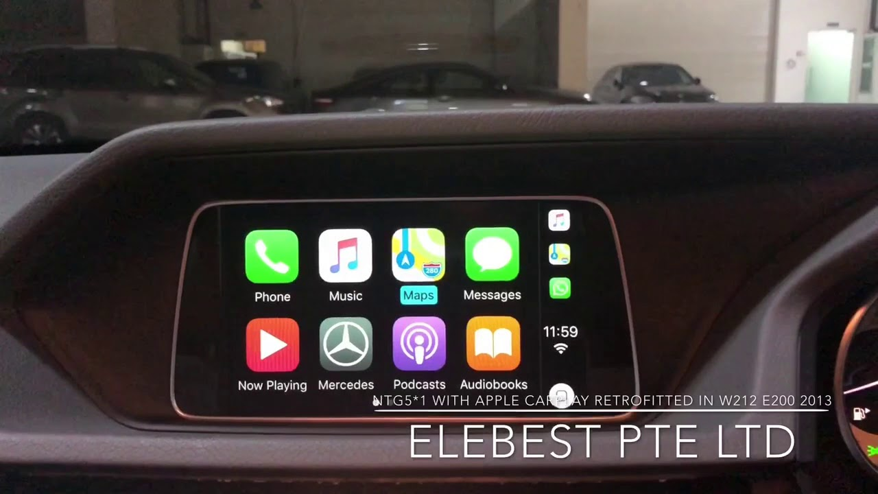 NTG5 *1 With Apple CarPlay Retrofitted in W212 E200 2013