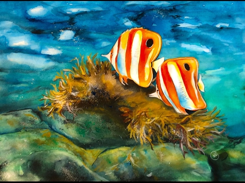 Watercolor Coral Reef Painting Demonstration - YouTube