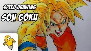 Draw Son Goku SSJ4 Gold Fanart [Time Lapse] Battleof Gods SSJ GOD