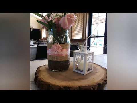 DIY rustic wedding decor...easy, cheap & beautiful ❣👰🤵💍
