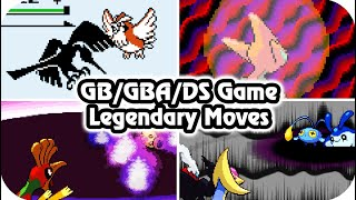 Pokémon 2D Games : All Legendary Signature Moves (HQ)