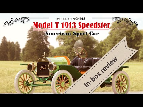 In-box Review ICM Model T Speedster