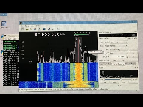 Using GQRX with RTL-SDR on a Raspberry Pi (Linux)