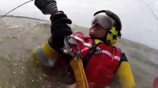 SAR Katwijk 2014 #hoisten reddingboot de Redder met NHV en SAR Leeuwarden