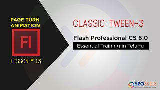 Page-Turn-Animation Adobe Flash CS6-Tutorial