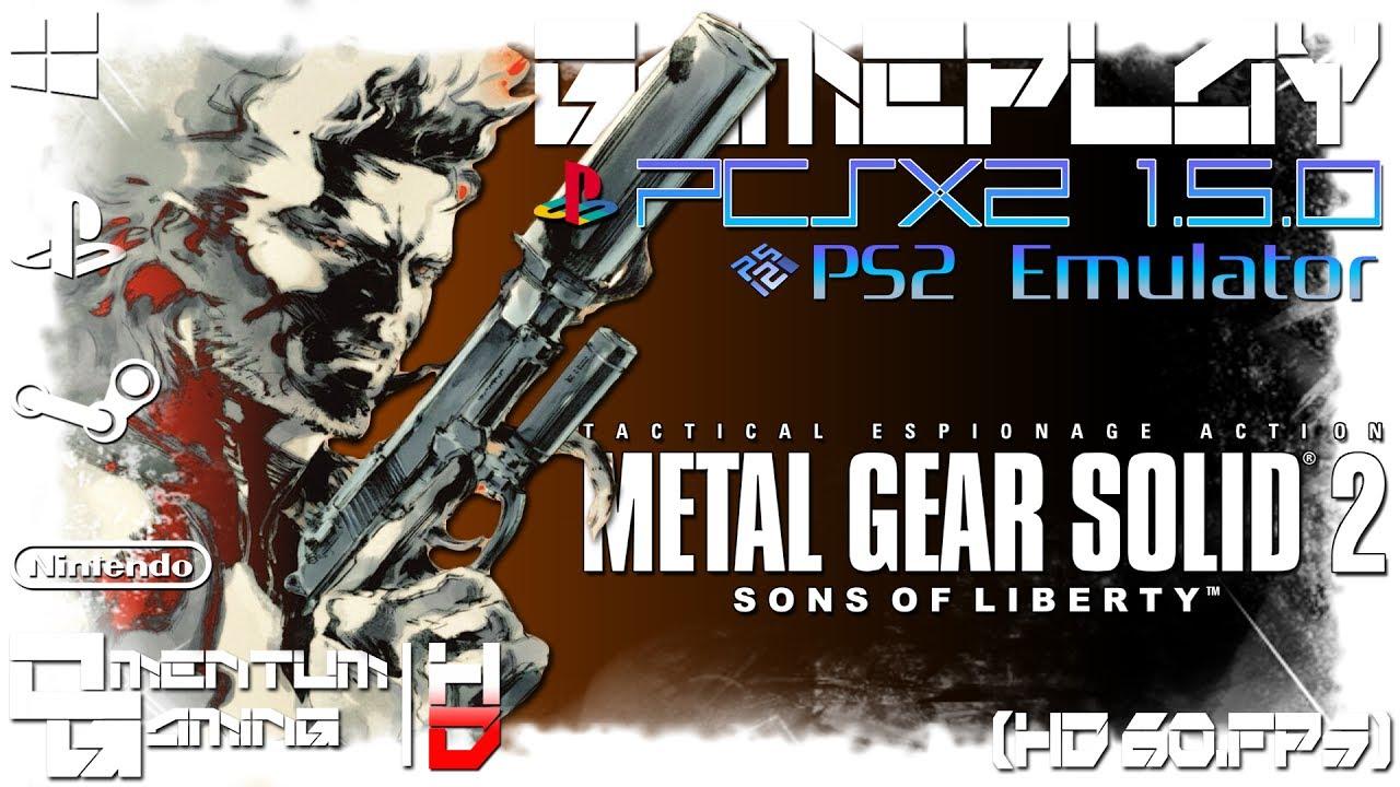 Metal Gear Solid 2: Substance - PCSX2 1 5 0 | PS2 Emulator Gameplay |  HD 1080p 60ᶠᵖˢ