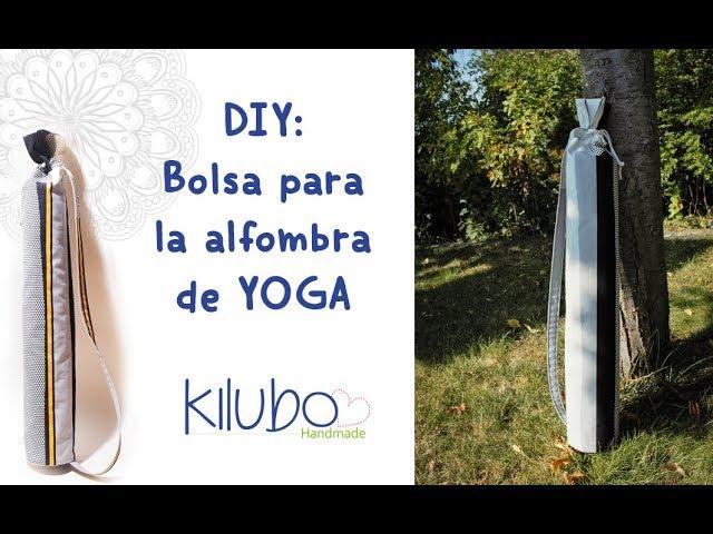DIY: bolsa para la alfombra de Yoga / Yoga mat bag - clipzui.com