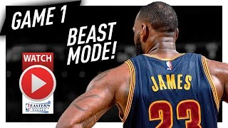 LeBron James Full Game 1 Highlights vs Celtics 2017 Playoffs ECF - 38 Pts, 9 Reb, 7 Ast, BEAST!