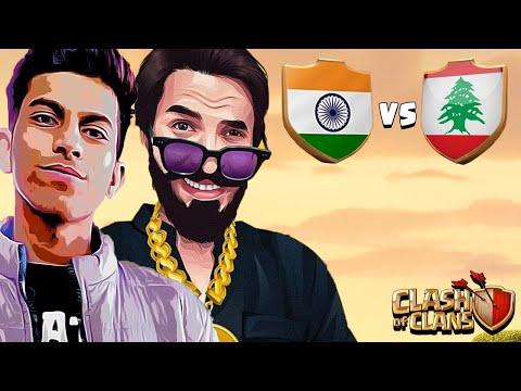 INDIA VS LEBANON LIVE WORLD CUP.....CLASH OF CLANS-COC.... @Sumit 007