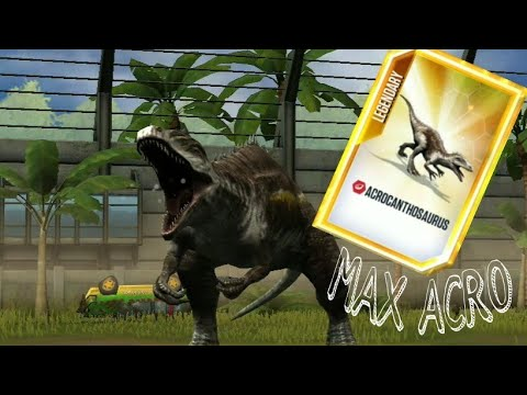 MAX ACROCANTHOSAURUS!!!! ACRO IS IN - Jurassic world the game