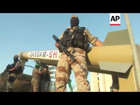 Hundreds of Hamas militants join Gaza parade