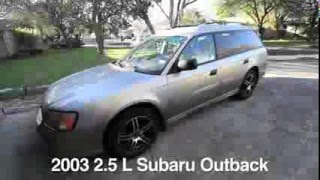 flowmaster 50 series on a 2003 subaru outback before after