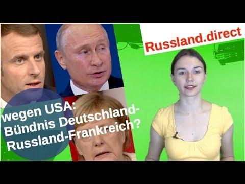 Wegen USA: Bündnis Deutschland-Russland-Frankreich?