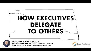 How Executives Delegate To Others