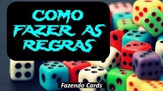 Como Fazer As Regras do Seu Jogo de Card Game