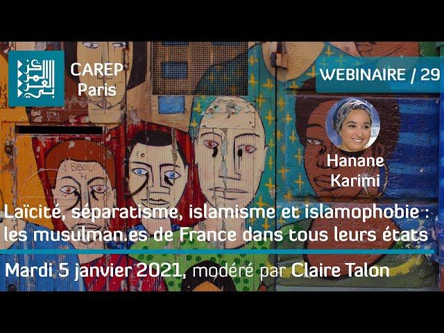 Webinaire 29 / Laïcité, séparatisme, islamisme et islamophobie