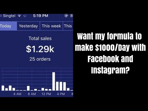 How I made $1000/day on Shopify Drop Shipping E-commerce with Facebook ads and Instagram [Detailed]
