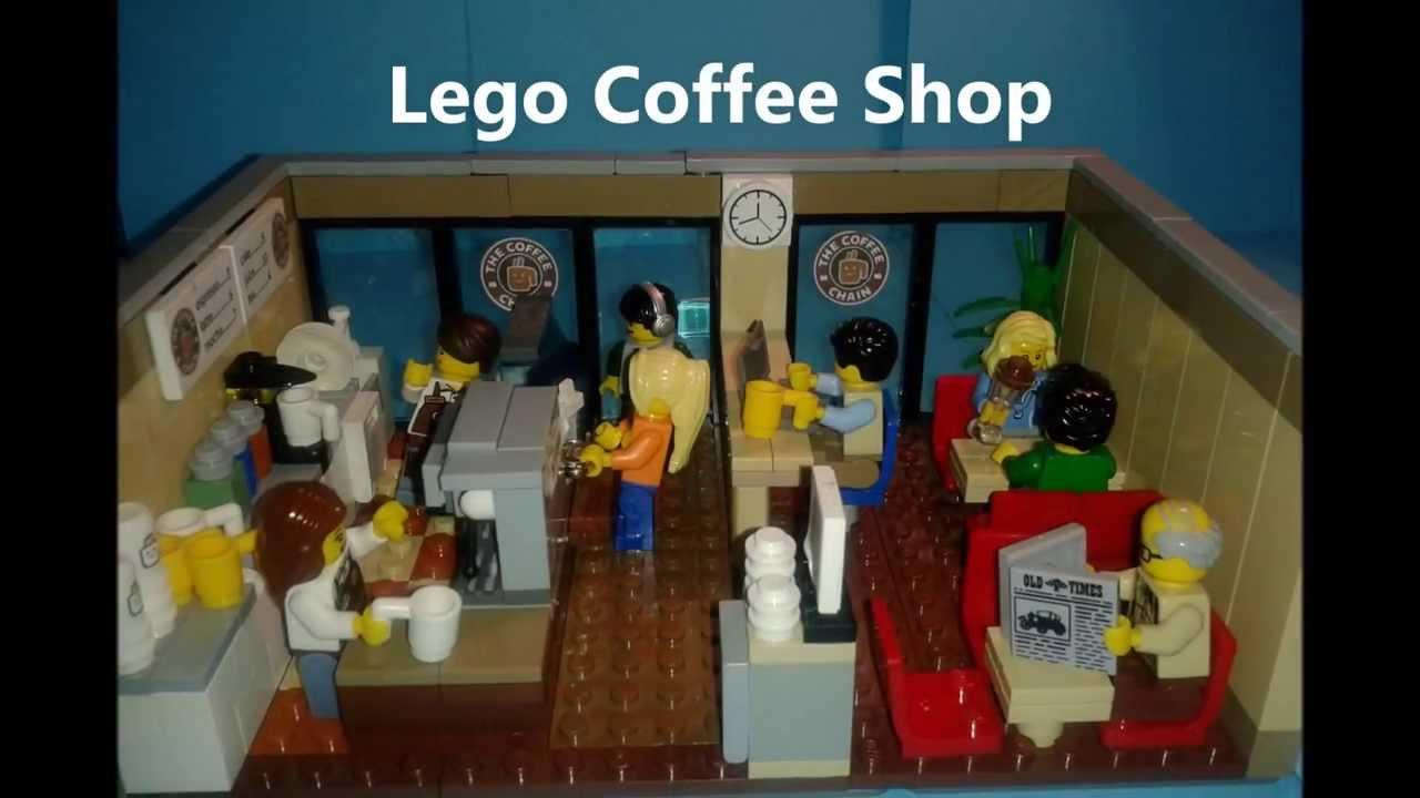 Custom Build Lego Coffee Shop Moc Youtube