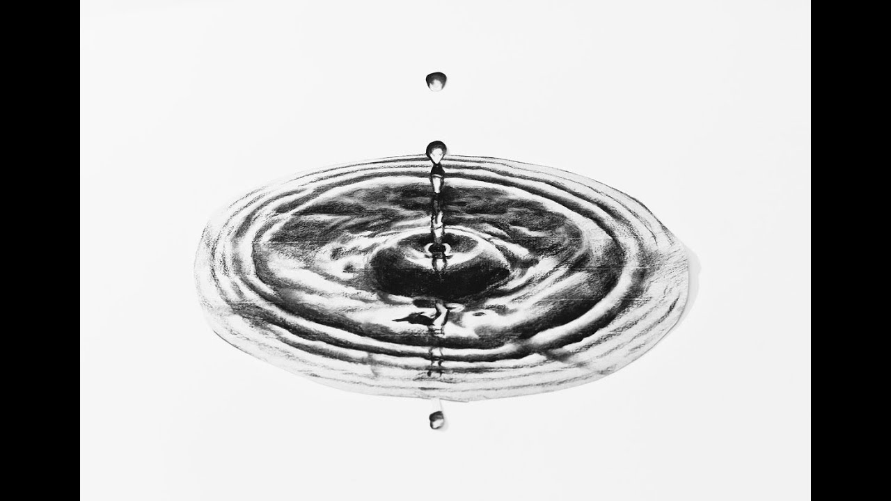 how to draw water splash with pencil