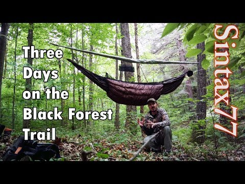 Solo Hiking The Black Forest Trail - Hammock Camping Trip - 3 Days , 42 Miles