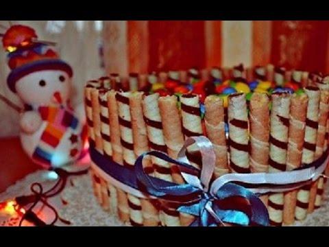 Торт новогодний шахматный