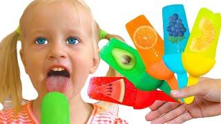 Helados de Frutas | Canción Infantil | Canciones Infantiles con Katya y Dima