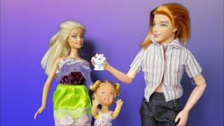 Куклы Барби мультик с игрушками Кен подарил кошку