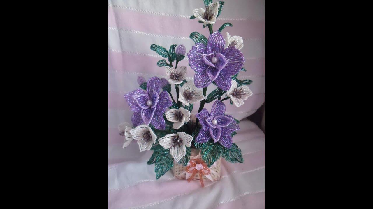 Ирис из бисера Цветы из бисера 3