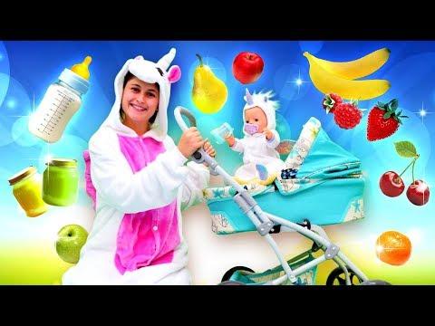 Видео для детей. Готовим завтрак для маленькой Единорожки! Веселое шоу для самых маленьких.