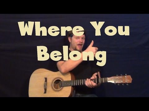 Where You Belong (The Weeknd) Easy Guitar Lesson How to Play Tutorial