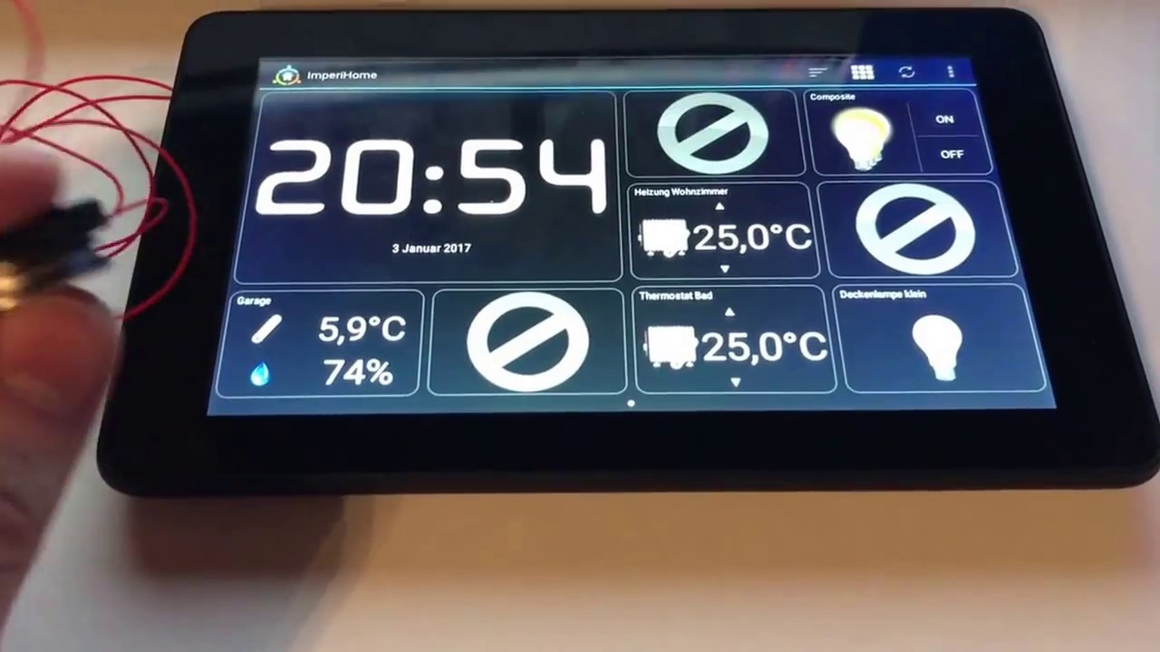 Amazon Fire Tablet As Homeautomation Controller Youtube