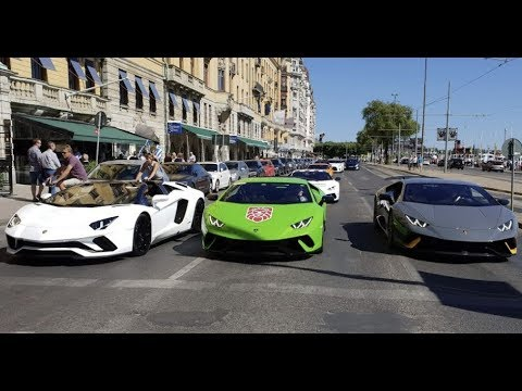 2 x Lambo Huracán Performante and Aventador S and GT2 RS spot with Peter Ternström and CC Stockholm