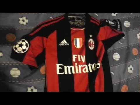 Adidas AC Milan 2010/2011 Home Jersey (UCL + Scudetto Patches)