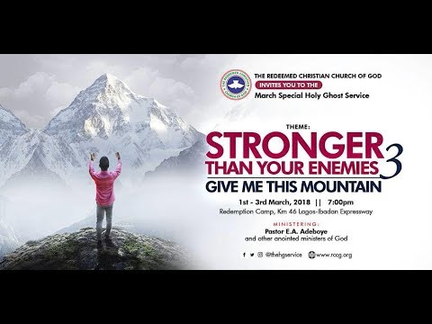 RCCG MARCH 2018 SPECIAL HOLY GHOST SERVICE || THANKSGIVING SERVICE