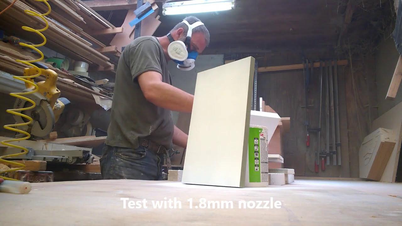 Test Spraying MR Mdf With Morrells Pre Cat Primer