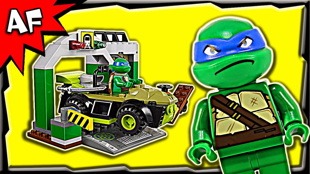 Lego TMNT Turtle Lair 10669 Juniors Stop Motion Build ...